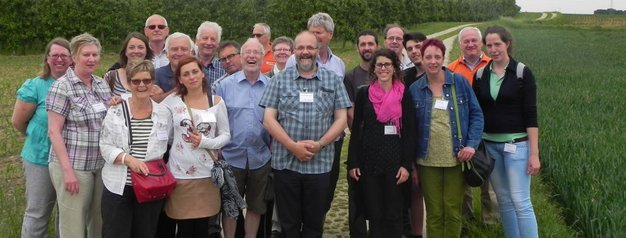 A photo of the group during the visit at Vissenaken in Belgium - May 2014
